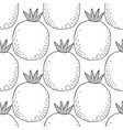black and white seamless pattern with pomegranates vector image vector image
