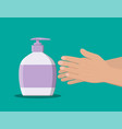 bottle with liquid soap shower gel or shampoo vector image vector image