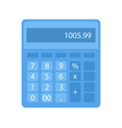 calculator with buttons and numerals math vector image
