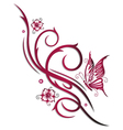 Cherry blossoms butterfly vector image vector image