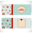 Christmas banner background with tags vector image vector image