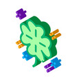 clover isometric icon vector image vector image