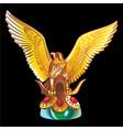 collection mascots golden statue an eagle vector image