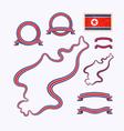 colors north korea vector image