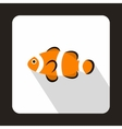 Cute clown fish icon flat style vector image vector image