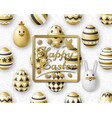 cute easter background with white bunny chicken vector image