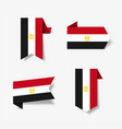 egyptian flag stickers and labels vector image vector image