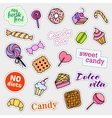 Fashion patch badges Candy set Stickers pins vector image