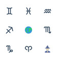 flat icons ram water bearer earth planet and vector image vector image