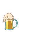 foam beer in a mug vector image vector image