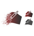 fractured pixel halftone signature hand icon vector image