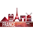 France travel background with place for text vector image vector image