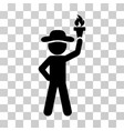 gentleman with freedom torch icon vector image vector image