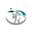 Golfer Tee Off Golf Retro vector image vector image
