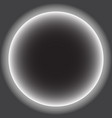gray circle with white halo solar eclipse vector image vector image
