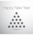happy new year christmas tree stars concept vector image vector image