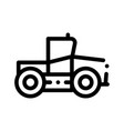 industry tractor vehicle thin line icon vector image vector image