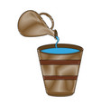 jug and bucket with water vector image vector image