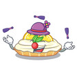 juggling mascot delicious homemade lemon cake with vector image vector image