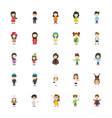 kids cartoon characters flat icons vector image