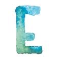 letter e colorful watercolor aquarelle font type vector image