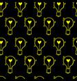 light bulb heart hand drawn pattern-08 vector image vector image