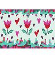love spring tulip pixel vector image vector image