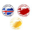 made in Iceland stamp vector image vector image
