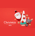 merry christmas and happy new 2022 year vector image