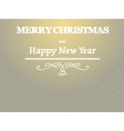 merry christmas nad happy new year background vector image vector image