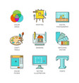 minimal lineart flat graphic design iconset vector image vector image