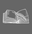 open book isolated vector image vector image