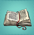 open old book with text fairy tale or novel vector image vector image