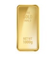realictick gold bar on the white background vector image vector image