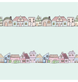 Seamless of cute doodle house vector image