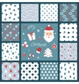 Set of retro style Christmas patterns Winter vector image