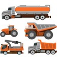 Set of Trucks vector image vector image