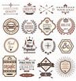 set retro design labels and elements vector image