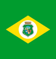 simple flag state of brazil vector image