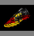 soccer football boot with the flag of germany vector image