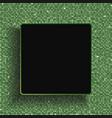 square frame green sequins glitter sparkle dot vector image
