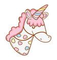 stick unicorn toy cartoon vector image