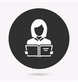 student - icon isolated vector image