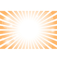 Sunburst with sun flare background vector image