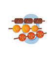 sweet rice dessert dango traditional japanese vector image