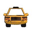 taxi cab car public transport sketch vector image vector image
