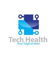 tech medicine logo designs vector image