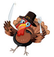 thanksgiving turky with cutlery vector image vector image