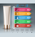 toothpaste cream tube - business infographic vector image