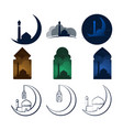 unique mosque design template set vector image